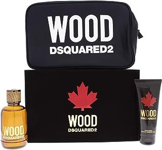 Dsquared2 Wood Eau de Toilette, Shower Gel & Pouch Set for Men, 200 ml - Pack of 1