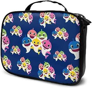 Multifunction Cosmetic Bag, Baby Shark Portable Makeup Pouch Waterproof Travel Hanging Organizer Bag For Women Girls