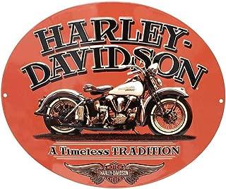 HARLEY-DAVIDSON Embossed Timeless Vintage Motorcycle Tin Sign, Orange 2010781