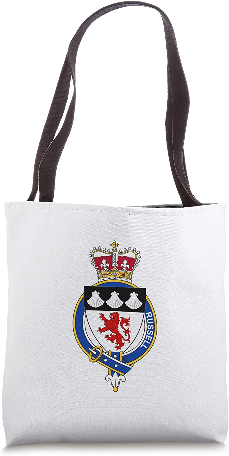 Russell Coat of Arms - Family Crest Tote Bag