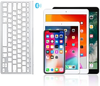 OMOTON iPad Keyboard with Sliding Stand, Ultra-Slim Bluetooth Keyboard for iPad Air 4th Generation 10.9, iPad 10.2(8t...