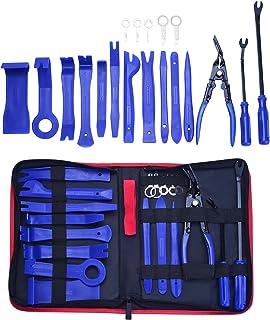 LIMICAR - Kit de herramientas de extracción de embellecedores para puerta de coche, kit de reparación de tapicería de coch...