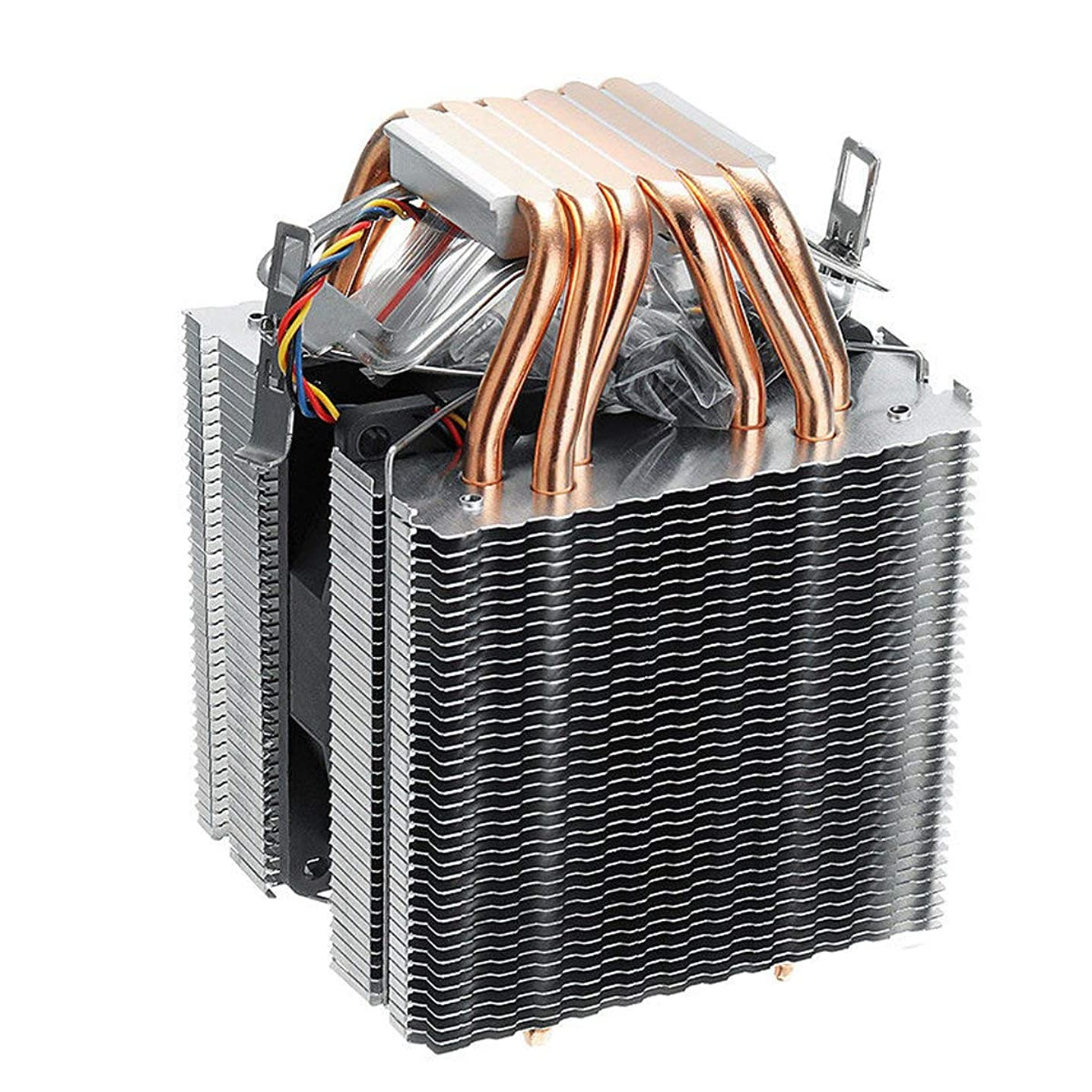 SODIAL 6 Pipes Computer CPU Cooler Fan Heatsink for Lag1156/1155/1150/775 Intel