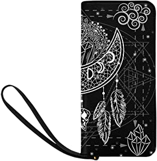 InterestPrint Women's Moon Tree Night Clutch Purse Card Holder Organizer Ladies Purse