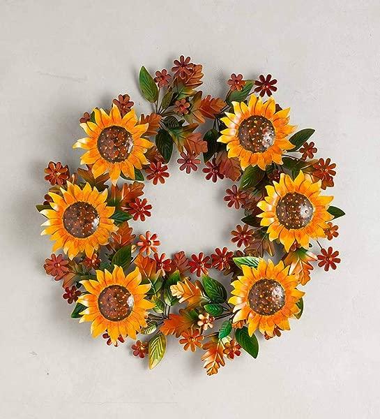 Plow Hearth Sunflower Metal Wreath 24 Dia X 2 75 D