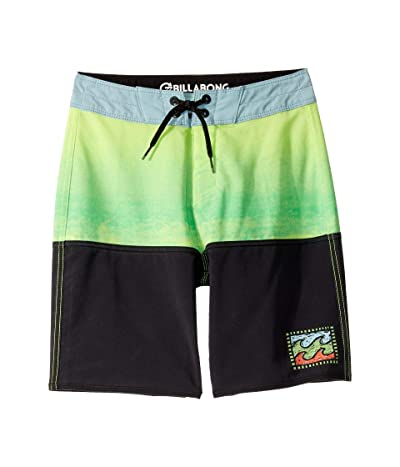Billabong Kids Fifty50 Fade Pro Boardshorts (Big Kids) (Neo Lime) Boy
