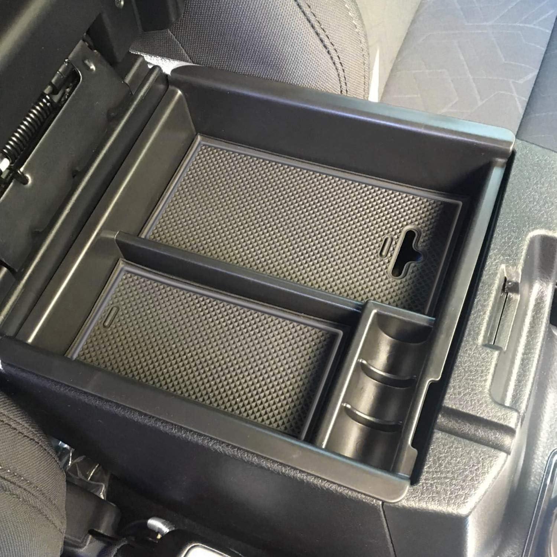 Gray Trim SENSHINE Center Console Organizer for Toyota Tacoma Accessory 2016-2019 2020 2021 Secondary Storage Armrest Box Insert Tray