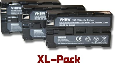 Set 3 baterías vhbw 2000mAh para cámaras Sony DCR-TVDCR-TV900, DCR-TV900E, DCR-VX (MiniDV), DCR-VX1000, DCR-VX2000, DCR-VX2100
