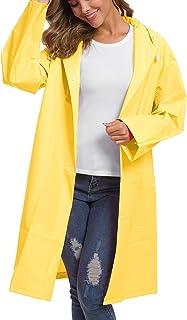 Besshopie EVA Raincoat Waterproof Rain Poncho Reusable Unisex Men Women Long Clear Rain Wear
