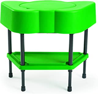 Children's Factory Angeles Toddler Sensory Table with Lid, Adjustable Height Sand & Water Indoor/Outdoor Play Equipment for Kids Playroom/Homeschool/Classroom, Green