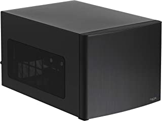 Fractal Design Node 302 - Compact Mini Tower Computer Case - Small Form Factor - Mini ITX – Mitx - High Airflow - Modular Interior - 3X Silent R2 120mm Fans Included - USB 3.0 - Black