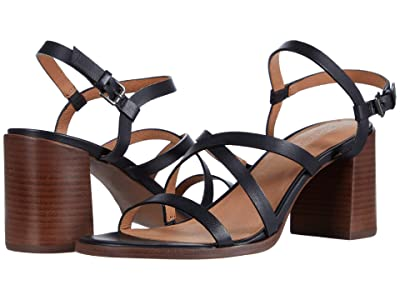 Madewell Sabine Skinny Strap Heeled Sandal (True Black) Women