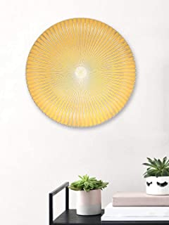 Art Street Beige Color Set of 1 MDF Decorative Wall Plate,Wall Decor Plates for Home & Office-Size-11.5x11.5 Inches