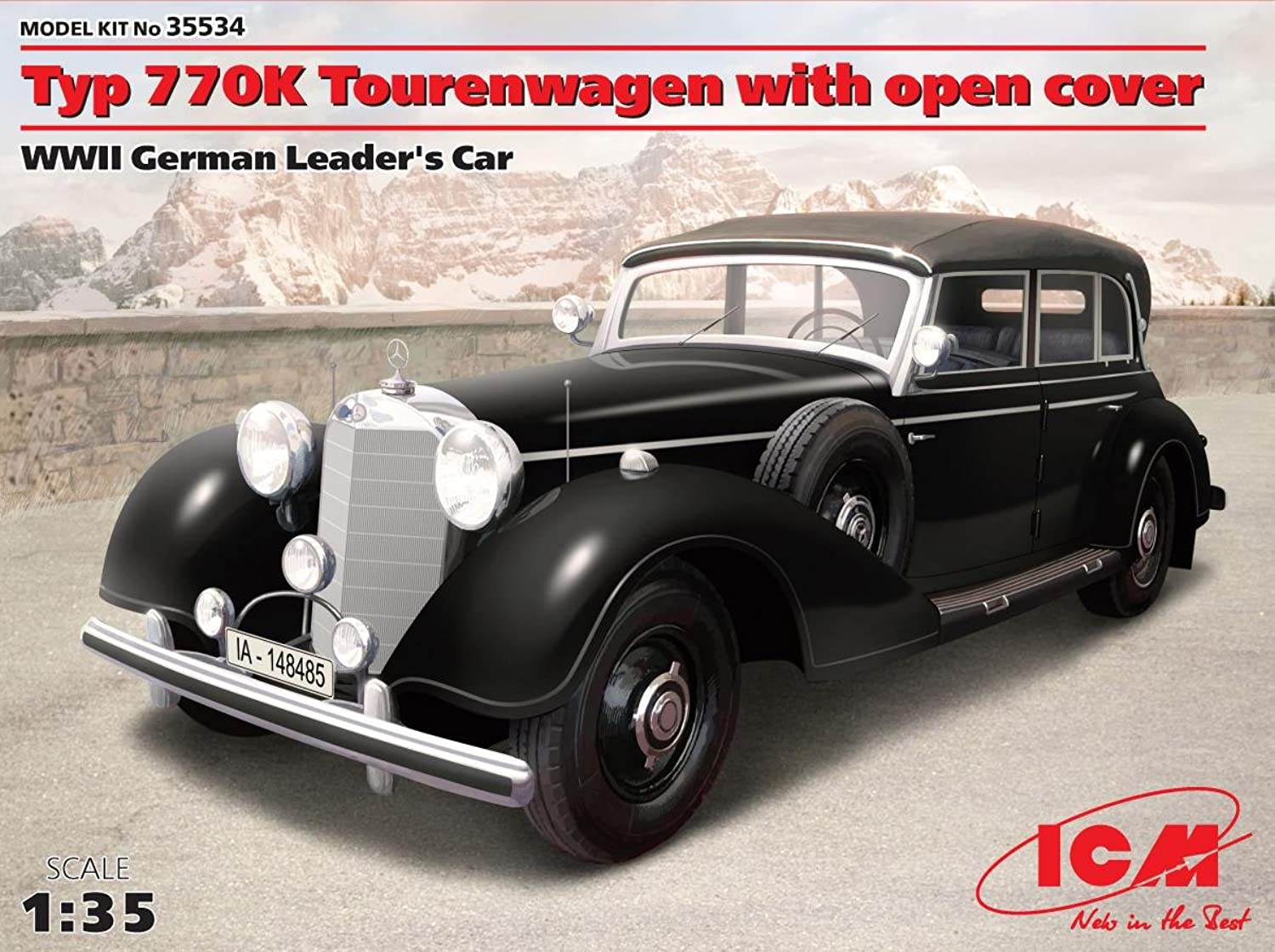 ICM Models Typ 770K Tourenwagen Car with Open Cover