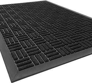 Outdoor Doormats, Heavy Duty Non Slip Rubber Front Door Mat Outdoor Indoor, Absorbent Dirt Trapper Doormats for Outside En...