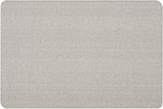 Quartet Bulletin Board, Fabric, 3' x 2', Frameless, Fiberboard, Oval Office, Gray (7683G)