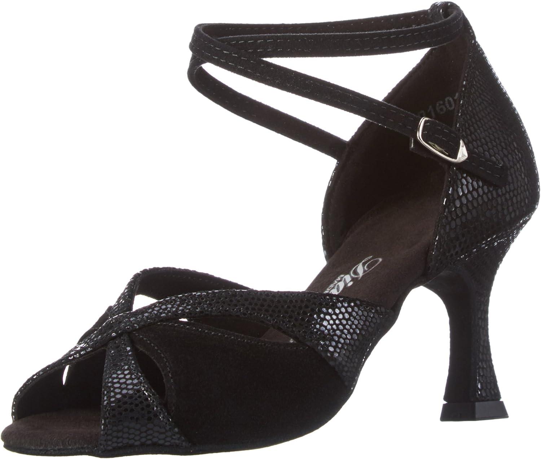 Diamant Ladies Dance Arlington Mall Shoes 141-087-084 Black Suede Inexpensive Flare 5
