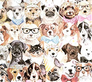 Puppy Party Gift Wrapping Paper Flat Sheet - 24