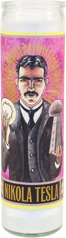 Nikola excellence Tesla Secular Saint Candle - Inch 8.5 Prayer Tampa Mall Glass Votive