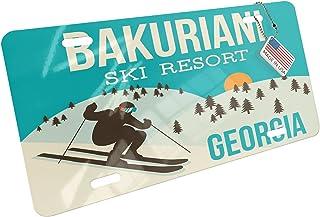 NEONBLOND Metal License Plate Bakuriani Ski Resort - Georgia Ski Resort