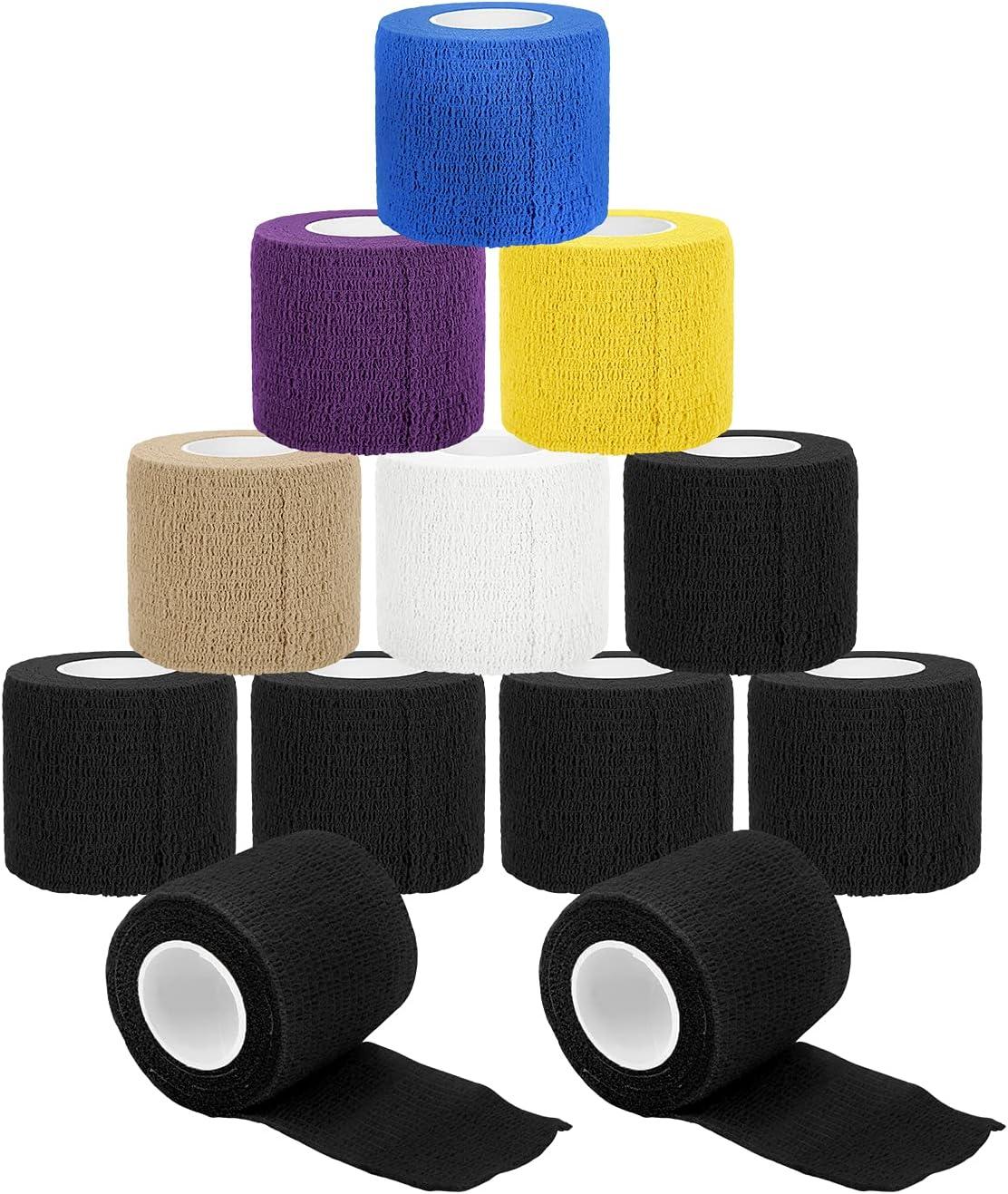 Self Adhesive Detroit Mall Direct sale of manufacturer Bandage Wrap Jaywayne Tattoo Vet 12PCS Tape Grip W