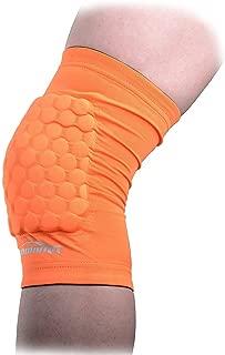 COOLOMG Pad Crash Proof Antislip Basketball Leg Knee Short Sleeve Protector Gear (1 Piece)