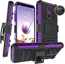 LG Stylo 5 Phone Case, LG Stylo 5 Case, LG Stylo 5 Plus Case, Built-in Kickstand Holster Belt Clip Multi-Layer Ultra Heavy Duty Shockproof Hard PC Back&Soft TPU Armor, Fit LG Stylo 5(Purple)