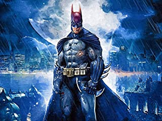 5D Full Drills Diamond Painting Kits for Adults DC Justice League Super-Hero Batman Pattern Home Wall Decor11.8x15.7in-10