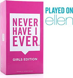 Never Have I Ever | Girl's Edition Ages 17+ | Adult Party Game for The Ladies - Laugh with Your Friends About Your Wild and Crazy Life Together