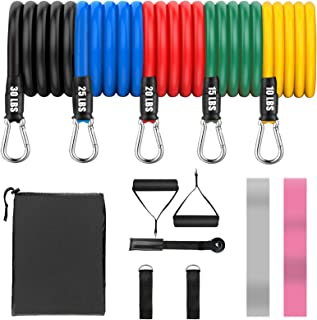 KIPIDA Resistance Bands Set,13 PCS Exercise Bands with Door Anchor,Handles,Legs Ankle Straps for Resistance Training,2 Res...