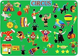 Circus Flannel Felt-Board Stories for Toddler Kids, Creativity Story Toy for Kids with 32 Pieces Animals Acrobats Precut F...