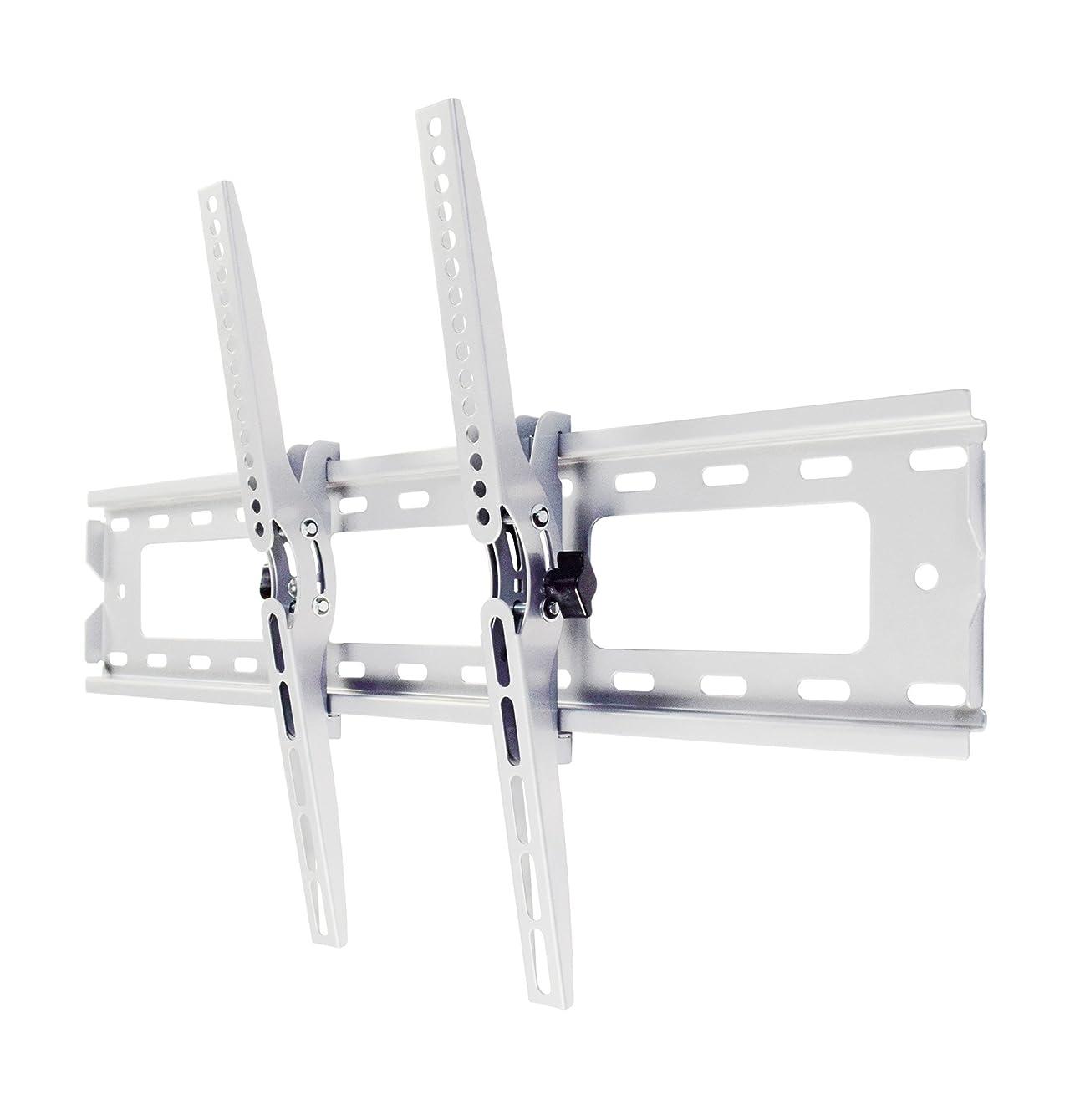 服を着るまもなく満足させるテレビ 壁掛け 金具 STARPLATINUM 液晶テレビ 37-65インチ対応 強度抜群 移動式 角度調節可能 TVセッターチルト1 Mサイズ 振動検査実施済 ホワイト