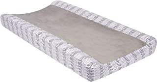 Lambs & Ivy Woodland Forest Gray Chevron Changing Pad Cover