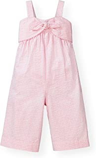Hope & Henry Girls' Bow Front Wide Leg Jumpsuit