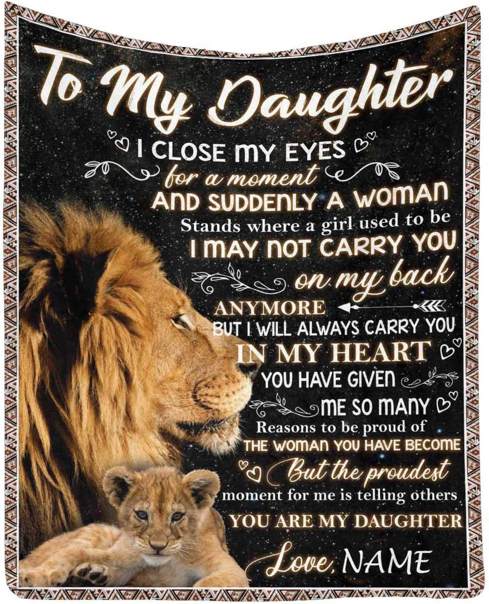 Customized Love 売り出し Blanket to !超美品再入荷品質至上! My Daughter Dad from Mom I and Will