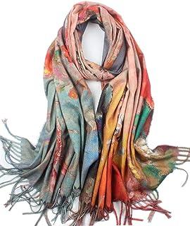 Soft Cashmere Feel Scarf For Women Elegant Large Winter Warm Scarves Shawl Wrap Monet Klimt Van Gogh's Art Printed
