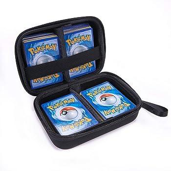 Annle Estuche portátil para Tarjetas de Comercio Pokemon, admite hasta 400 Tarjetas de Comercio Pokemon, Estuche rígido de EVA Duradero con Correa de Mano: Amazon.es: Juguetes y juegos