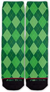 Function - St. Patrick's Day Green Argyle Pattern Fashion Socks