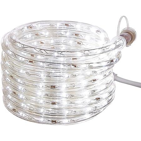 Amazon Basics 210 LED Indoor Outdoor White Rope Light, 20-Foot