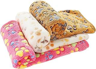 comprar comparacion PET SPPTIES Pata pequeña impresión paño Grueso y Suave Manta Suave Estera del Animal doméstico 3 Piezas PS016(Pink+Beige+C...