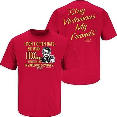 Dont Be a D!ck Sm-5X Smack Apparel Kansas City Football Fans Red T-Shirt Anti-Pats