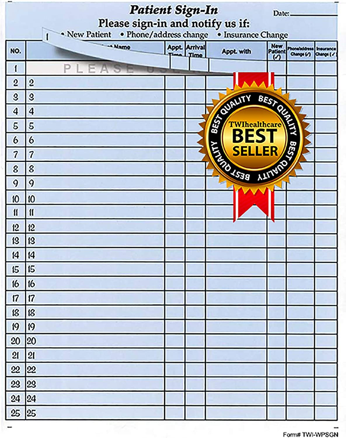 Ranking TOP16 Patient High quality new Sign-in Sheets 8-1 2