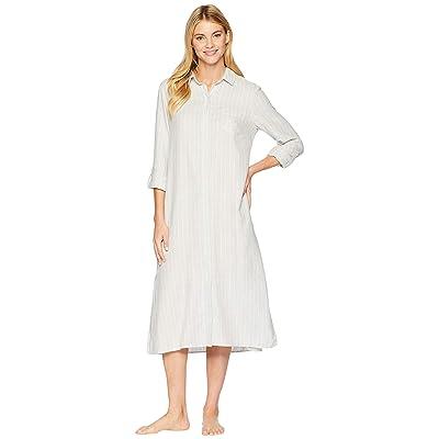 LAUREN Ralph Lauren Long Sleeve Roll Cuff Ballet Sleepshirt (Grey Heather Print) Women