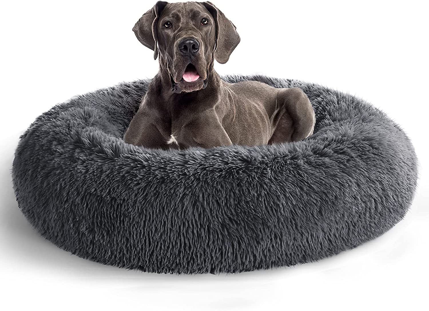 COHOME Calming Fluffy Donut Cuddler Round Premium Indianapolis Mall Dog 5 popular Soft - Bed