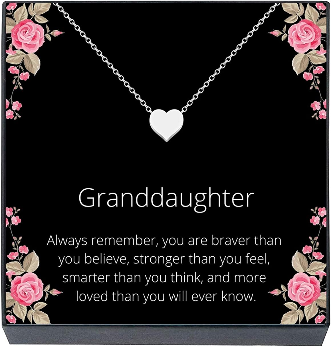 Over item handling Granddaughter Jewelry Heart online shop Necklace from Grandma Gift Grandpa