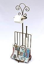 DanDiBo toiletrolhouder met krantenvak 10-1263 toiletpapierhouder 96 cm brons