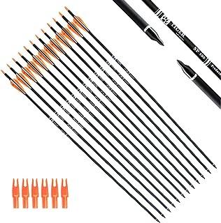 10pcs Arrowhead Thread Carbon Fiber Arrow Compound Bow Tips Target PoinH WFR