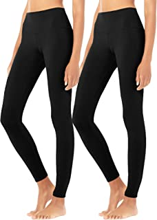 Diravo Soft Leggings for Women Stretch Basic Leggings Regular&Plus Size