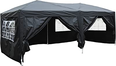 COSTWAY 3X3M Wedding Canopy Pop Up Gazebo Waterproof Tent