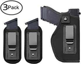 TACwolf 3 Pack Universal IWB Holster Magazine Pouch for Concealed Carry Inside Fits Firearms Glock 19 17 26 27 43 S&W M&P Shield 9/40 1911 Taurus PT111 G2 Sig Sauer Ruger